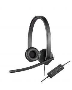 Logitech H570e Wired Stereo Headset - Over-the-head - Supra-aural - 31.50 Hz - 20 kHz - USB