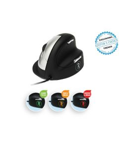 R-Go HE Break Mouse Ergonomic mouse Anti-RSI software Medium (165-195mm) Righthanded corded