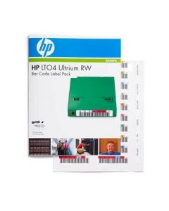 HP Ultrium LTO4 RW Bar Code Label Pack