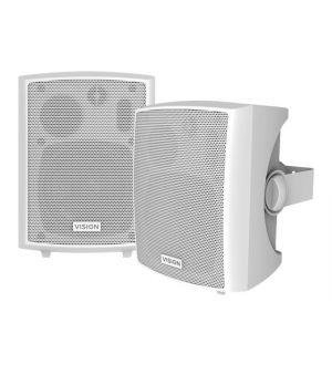 Vision SP-800P Actieve Speakers 2x 12W - wit